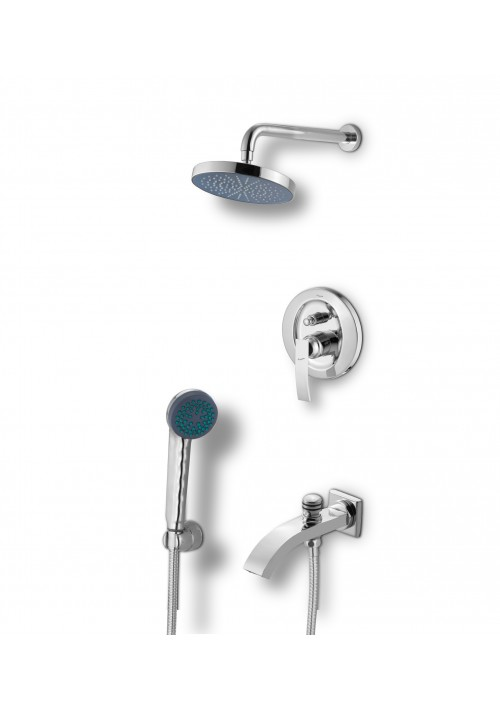 DIGNITY COLLECTION / C.P. O/H RAIN SHOWER/ TELEPHONIC SHOWER/BATH SPOUT/4 WAY DIVERTOR