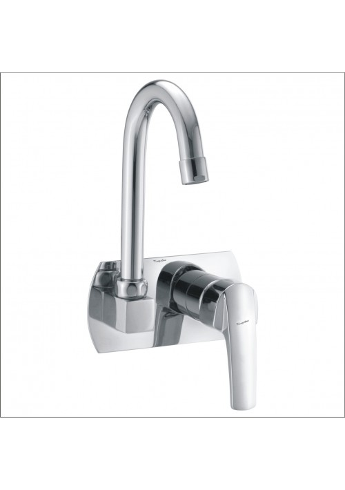 DIGNITY COLLECTION / C.P. SINGLE LEVER CONCEALED SINK MIXER WITH SPOUT WALL MOUNTED