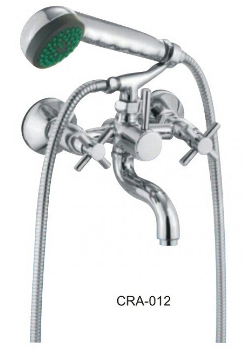 CROSSA SERIES / WALL MIXER WITH CRUTCH & HAND SHOWER